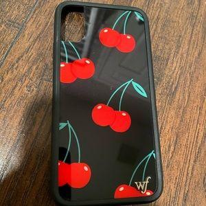WF Black Cherry iPhone X/Xs Case